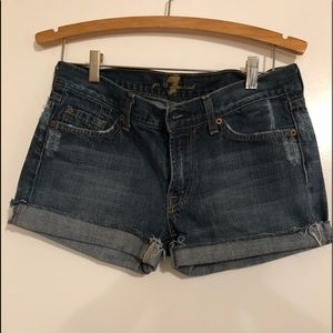 7 for all mankind jean shorts!🌼
